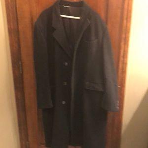 Men's long wool winter dress coat